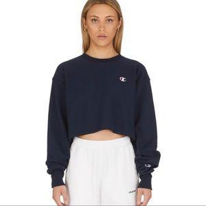NWT Champion crop navy sweater men's fit